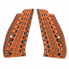"CZ 75 85 Compact Slim Grips G10 Orange Black 1/4"" Thick Cool Hand SPC-6-34"