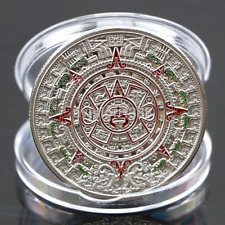 Hot Silver Plated Prophecy Mayan Aztec Calendar Commemorative Coin Collection