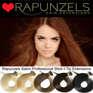 """Rapunzels UK 18"""" Remy micro ring stick tip hair extensions microbead application"""