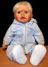 """Cute 2005 AEL by Jane Pinkstaff 18"""" Baby Boy Doll - Vinyl & Cloth in Blue - VGC"""
