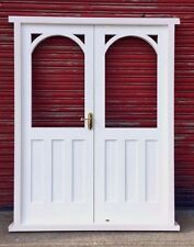 Hardwood Arched French Doors! Glazed! External! Bespoke! Made to measure!