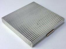 British Sterling Silver Cigarette Case with Gold Button –1939 by Alfred Dunhill