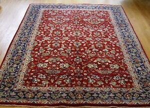 """Excellent Floral Kirman Hand Made Wool Red Oriental Rug 5'8"""" x 8'"""