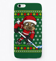 Sloth Hockey Ugly Christmas Gift Phone Case iPhone