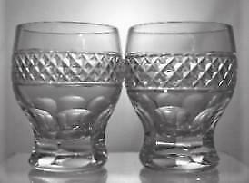 Two Crystal Cut Glass Whisky Fireing Shot Glasses Perfect Christmas Present