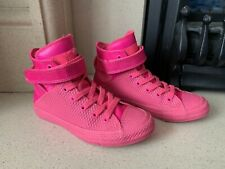 Converse All Star Pink Studded Rubber Hi Top Trainers Size 4.5