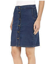 KUT from the Cloth sz 8 NEW Button-down Blue Denim Skirt Dark Stone $79 NWT
