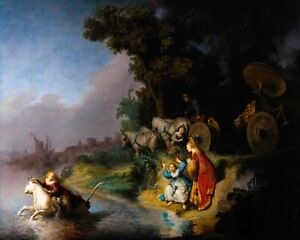 Rembrandt, The Abduction of Europa, 1632, Canvas Print