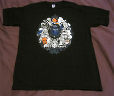 Teefury Dr Who Villans T-Shirt Men's Medium Black Pre-Owned