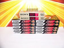 Lot of 14 Blank Cassette Tapes TDK D90 Sony NEW IN PACKAGE Blank Tapes