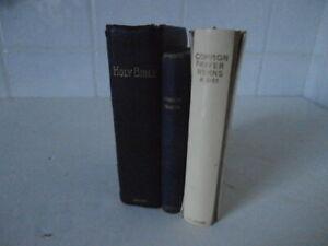 3Vintage Bible Hymn & Prayer Books