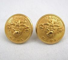 USMA Westpoint Cadet Gold Stud Earrings Waterbury Eagle Crest Military Academy