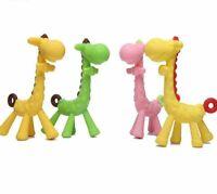 1Pc Silicone Giraffe Baby Teether Animal Newborn Teething Toy Kids Care Organic
