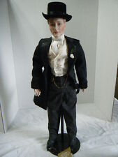 Gibson Girl Groom Porcelain Doll by Franklin Mint Heirlooms in Box!