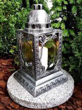 Grablaterne Grablampe Grableuchte Teelicht Grablicht Kerzen Engel Grabstein Neu
