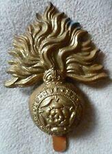 Royal Fusiliers City Of London Regiment Metal Cap Badge KC BRASS Long Slider ORG