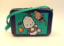 Pochacco Sanrio Vintage 1996 Rare Purple Dog Metal Tin Coin Toy Box Lid Case Bag