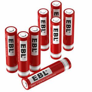 EBL 3.7V 350mAh 10440 Li-ion Rechargeable Battery For Flashlight LED Torch Toys