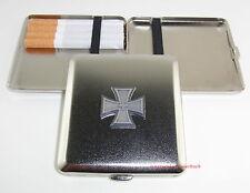 Zigaretten Etui mit Emblem EISERNES KREUZ und EICHENLAUB Militaria NEU OVP