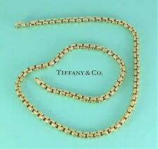 $11,500 Germany Tiffany & Co 18K Yellow Gold 5mm Square Link 20'' Chain Necklace