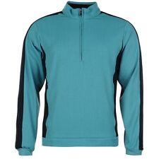 NEW Men's Ashworth Stretch 1/2 Zip Pullover - Lake Blue - XXL