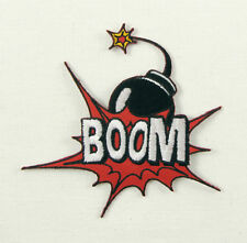 BOOM Comic Word Fighting Bomb Marvel EMBROIDERED Iron on PATCH -EL 2019