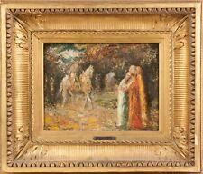 "Adolphe Joseph Thomas Monticelli (1824-1886) ""Le Cavalier"" Oil/Brd Signed C.1860"