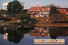 Front Street & Cane River, Natchitoches, Louisiana, Water Reflection -- Postcard
