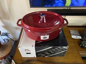 Staub Oval Cocotte Dutch Oven 7 Qt Cranberry Red