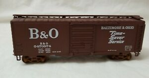 WALTHERS HO 40' PS1 BOXCAR B&O TIME SAVER SERVICE T470874 - RTR w/KD's