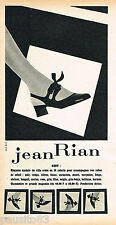 PUBLICITE ADVERTISING 065  1966  JEAN RIAN  chaussures sandales GENY