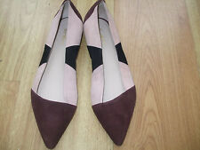 BODEN POINTED COLOURBLOCK FLATS  SIZE 39==6 BNWOB