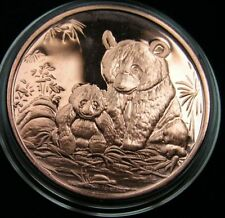 Panda Copper Round  1 Oz  Kupfer Medaille