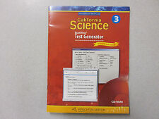 %Houghton Mifflin California Science Gr 3 ExamView Test Genrator CD 0618757287