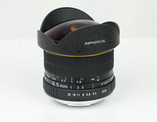 Kelda 6.5mm F/3.5 Nikon compatible OBJETIVO MANUAL Asférica ultra ojo de pez aps