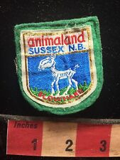 Vtg ANIMALAND SUSSEX NEW BRUNSWICK BLOWHARD Canada Patch Amusement Park 75X1