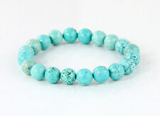 Men's Bracelets: Precious Turquoise 8mm Stretch
