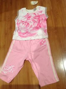 "Babies ""Sweet Rose"" Top and Pants Set - Size 00"
