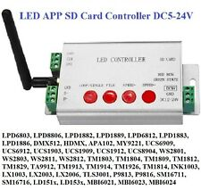WiFi LED app píxeles SD Card controlador DMX 512 apa102 ws2812b ws2811 ws2801 Strip
