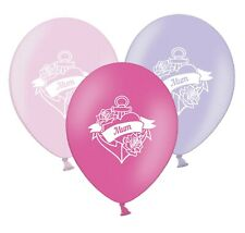 "Mum Love Heart Banner  12""   Pink & Lavender Assorted  Balloons pack of 5"