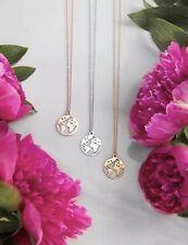 Kette Halskette Edelstahl gold/rosegold/silber Erde Globus Welt rund Kreis NEU