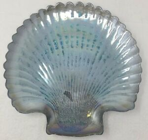 Bath & Body Works Iridescent Seashell Plate Large 3 Wick Candle Holder Nautical