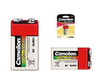8x Camelion Plus Alcalina 9v Batería de bloque 6lr61 6lf22 Baterías 9 Voltios
