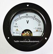 Analog Voltmeter Voltage Panel Meter directly connectedDC 0-20V Round