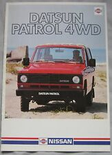 1983 Datsun Patrol 4WD range Brochure (text is in German)