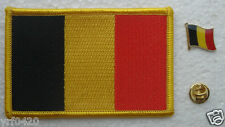 Belgium National Flag Pin and Patch Embroidery