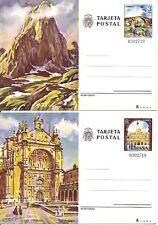 Entero Postal Edifil # 119/120 Tusrismo Asturias - Salamanca