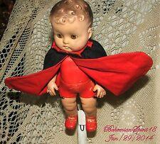 Vintage Signed Sun Rubber Co 1956 Original Cape Superman? Doll