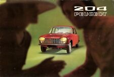 Peugeot 204 1970-71 UK Market Sales Brochure Saloon & Estate