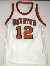 HOUSTON COUGARS #12 1992 Basketball ('Salesman Sample') Game JERSEY (Size 44)